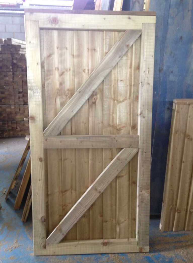 Wooden Gate 1 80m 6ft High X 1200mm 4ft Roger Hanley