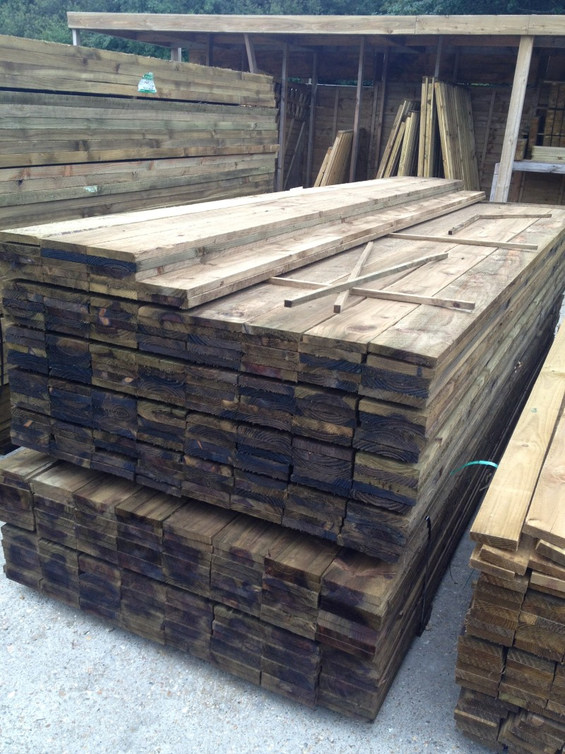 Gravel Boards 3 60m 12ft X 150mm 6 X 22mm 1