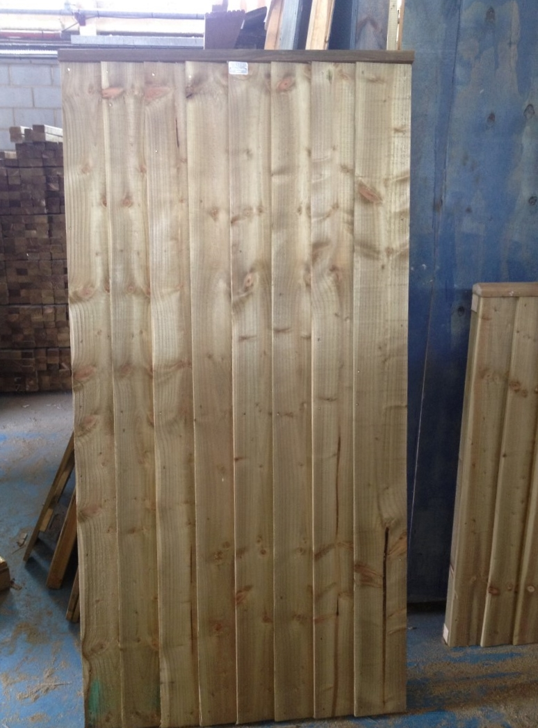 Wooden Gate 1.80m [6ft] high x 1.50m [5ft]
