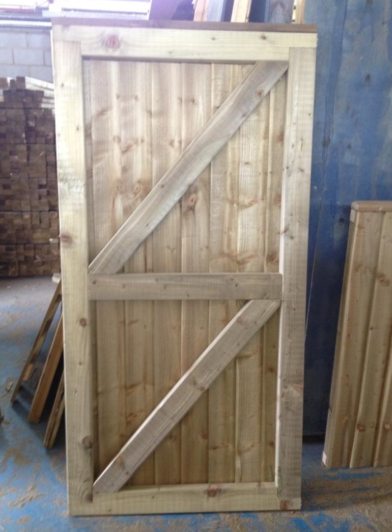 Wooden Gate 1 80m 6ft High X 1 50m 5ft Roger Hanley