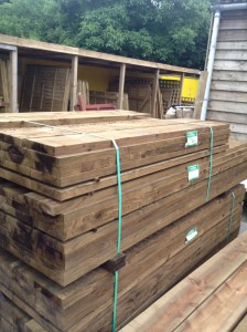 """New Sleepers 2.40m [8ft] x 200mm [8""""] x 38mm [1 1/2""""]"""
