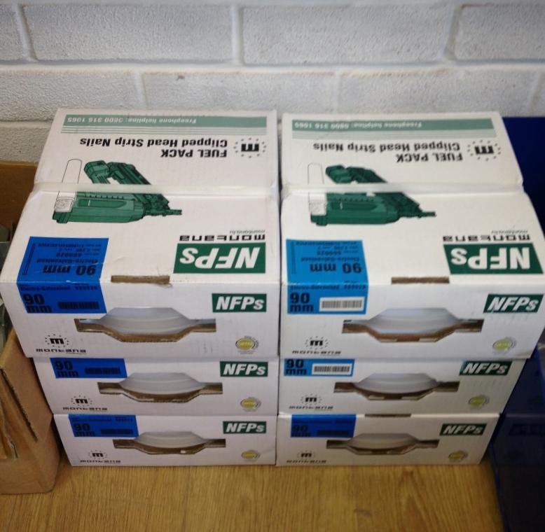 Nail Gun Nails 2,200 90mm Electro Galv Screw Nail (2 Gas Cells)