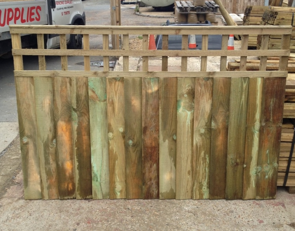 Closeboard panels with built in trellis 6ft x 1.50m + 300mm