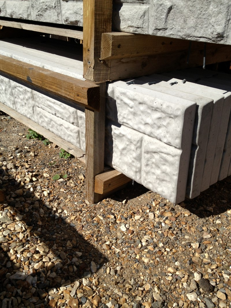 "Gravel Boards 6ft x 300mm [12""] light rock face"