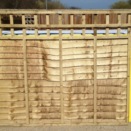 Overlap panels with built in trellis 6ft x 2ft x 1ft