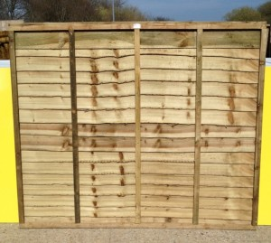 Heavy duty overlap panels 6ft x 5ft