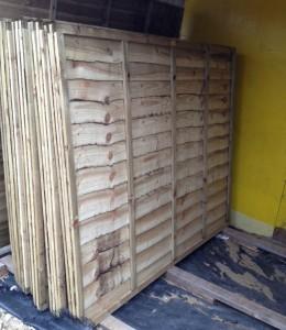Heavy duty overlap panels 6ft x 5ft